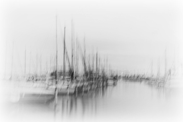 boats in a safe harbor in Languedoc